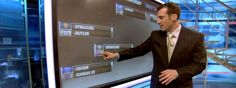 NCAA Brackets Touchscreen